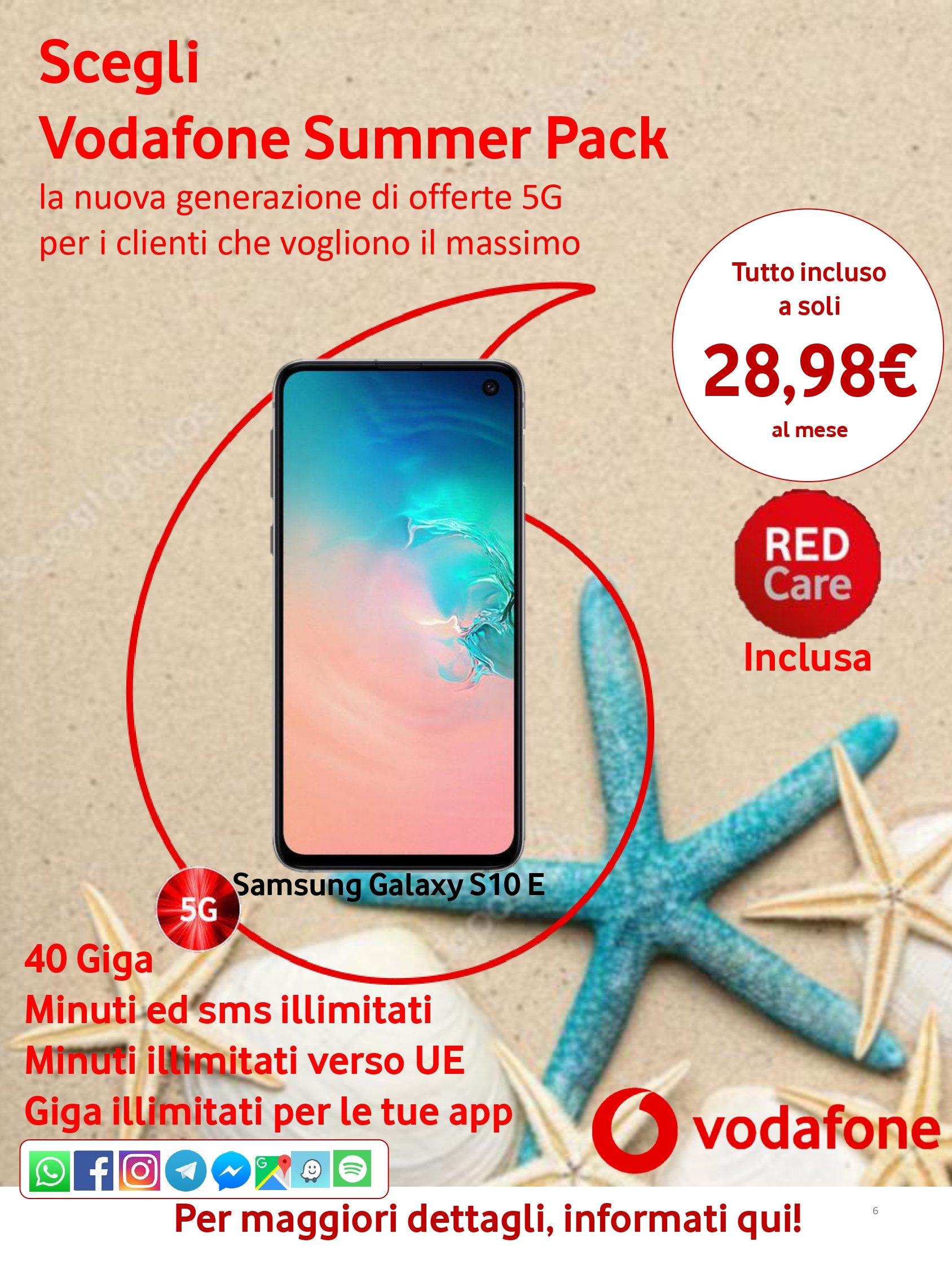 Estate summer pack Vodafone
