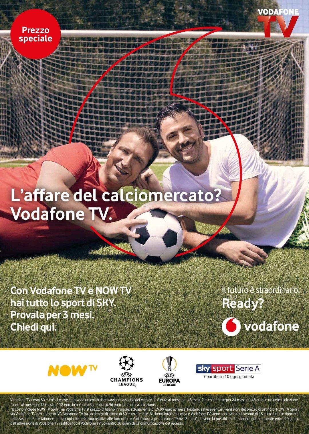 3 mesi di Vodafone Tv inclusa!
